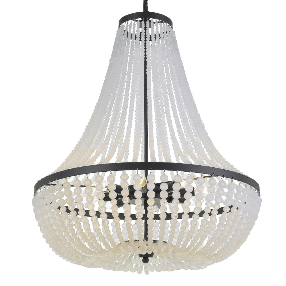 Rylee 8 Light Matte Black Chandelier