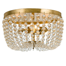 Crystorama 600-GA - Rylee 3 Light Antique Gold Ceiling Mount
