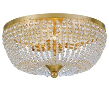 Crystorama 605-GA - Rylee 4 Light Antique Gold Ceiling Mount
