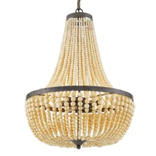 Crystorama 608-FB - Rylee 6 Light Forged Bronze Chandelier