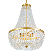 Crystorama 608-GA - Crystorama Rylee 6 Light Antique Gold Chandelier