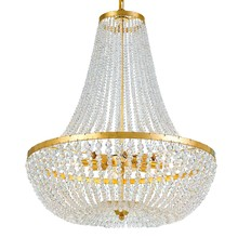 Crystorama 609-GA - Rylee 8 Light Antique Gold Chandelier