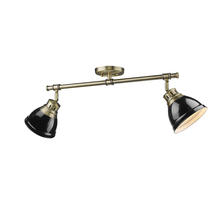 Golden 3602-2SF AB-BK - Semi-Flush - Track Light