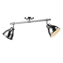Golden 3602-2SF CH-CH - Semi-Flush - Track Light