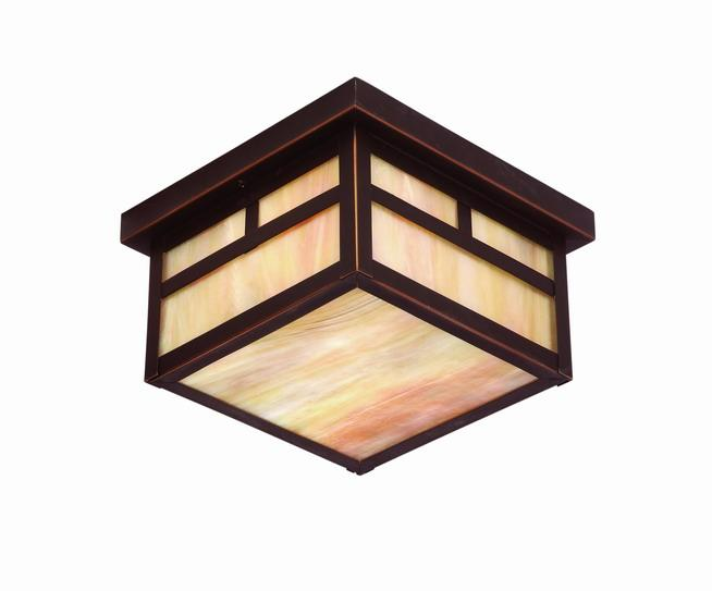 Lighting Concepts. Two Light Oil Rubbed Bronze Outdoor Flush Mount (7TG5).  $150.50
