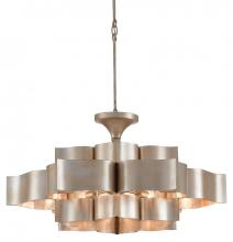 Currey 9000-0051 - Grand Lotus Silver Large Chandelier